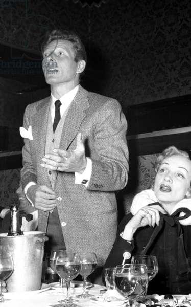 Danny Kaye and Merlene Dietrich, Stork Room, London, UK, 1956