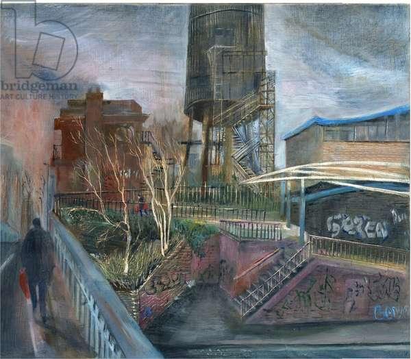 Ladbroke Grove lockdown: 1, over the canal, 2020 (oil on board)