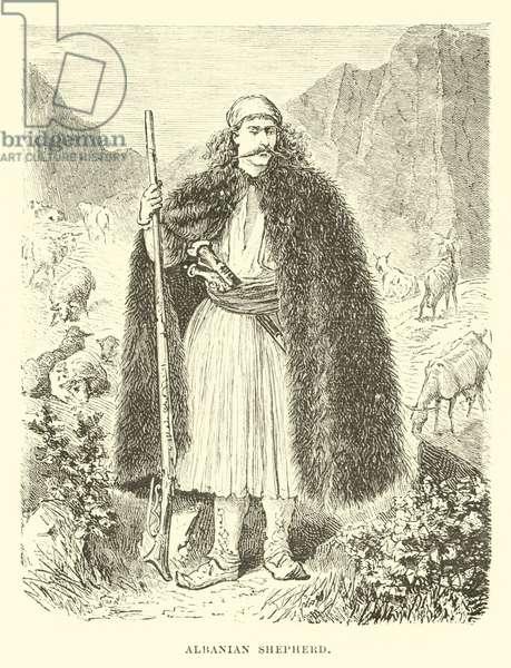 Albanian shepherd (engraving)