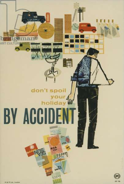 Don't spoil your holiday by accident (colour litho)
