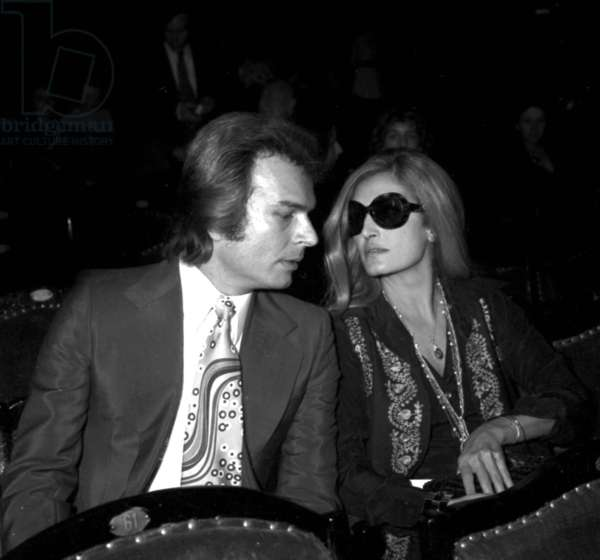 Richard Chanfray and Dalida at the Premiere of ThierryLeLuron in Paris, 8 November 1973 (photo)