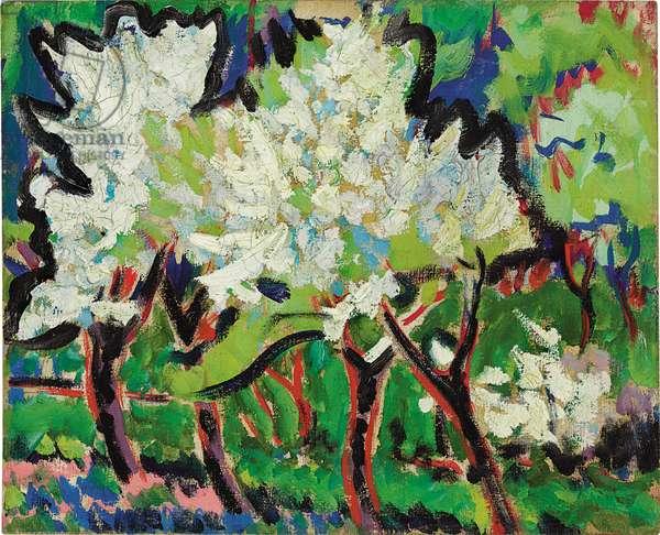 Flowering Trees IV; Bluhende Baume IV, 1909 (oil on canvas)