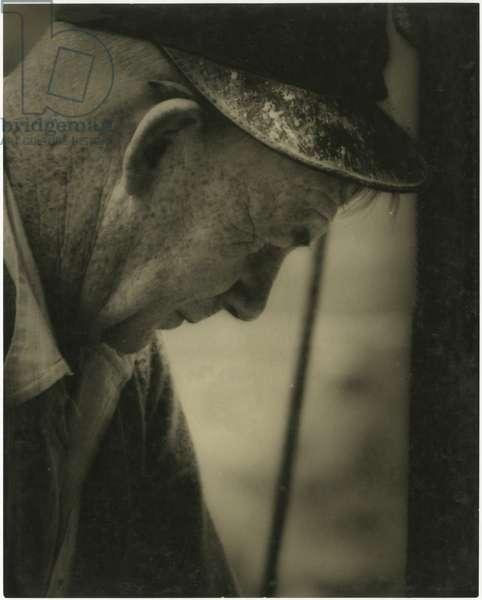 Construction worker, Rockefeller Center, New York, USA, c.1920-38 (gelatin silver photo)