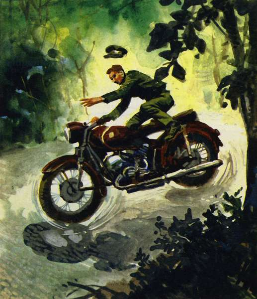Lawrence died in 1935 in a motorcycle accident (colour litho)