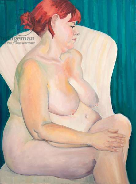 Red Haired Nude, 2015, oil on canvas