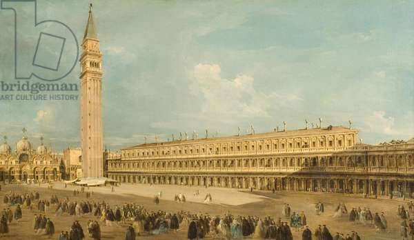 Piazza San Marco in Venice (oil on canvas)