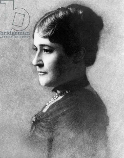 Mary Arthur McElroy, White House Hostess for U.S. President Chester A. Arthur, Head and Shoulders Portrait, 1885 (b/w photo)