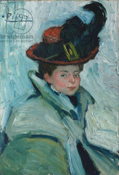 Woman with a Cape, 1901 (oil on canvas)