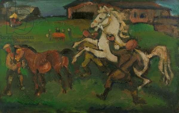 Orlov Bloodstock, 1985 (oil on panel)