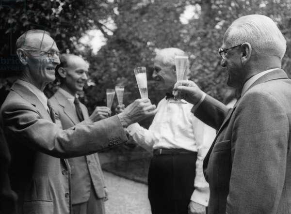 Switzerland Hesse 70Th Birthday (b/w photo)