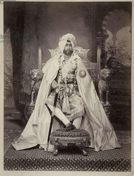 Sir Rajendra Singh, Maharaja of Patiala, 1898 (b/w photo)