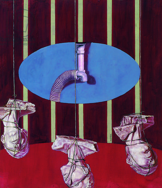 Triptych, 1996 (oil on wood)