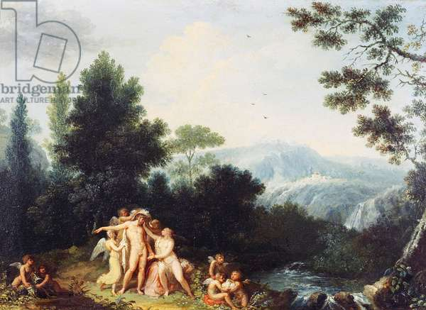 Mars and Venus, ca 1801, by Andrea Appiani (1754-1817), oil on wood, 24.5x34.5 cm
