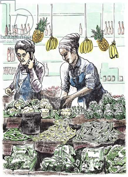 Borough Veg 2, 2013, (ink on paper)
