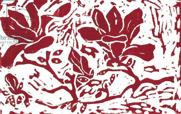 Magnolia Linocut
