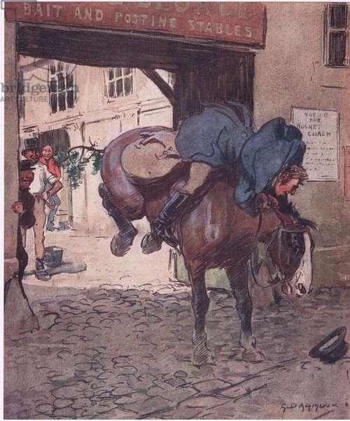 Mr Gambado, from Mr Jorrocks' Lectors published by Hodder & Stoughton, 1910 (colour litho)