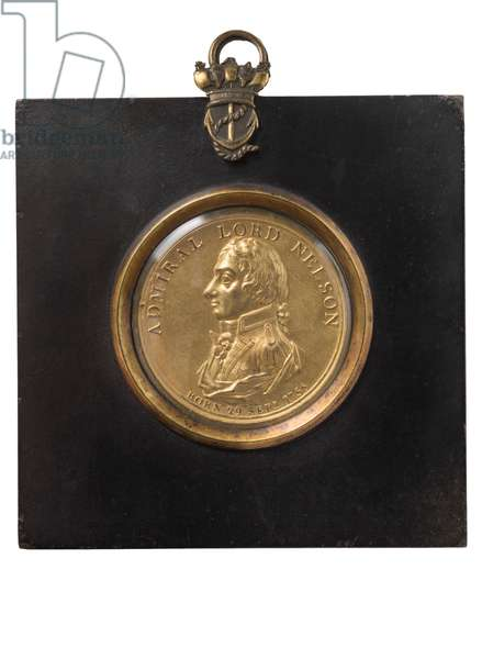 Portrait Plaque of Admiral Lord Nelson, c.1805 (bronze gilt)