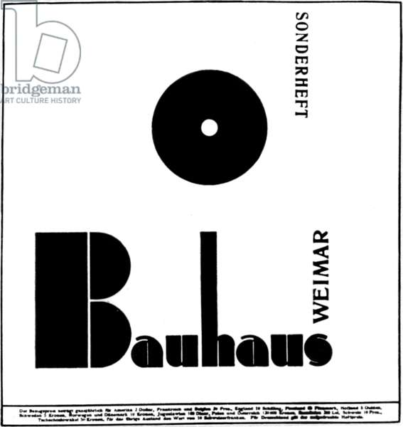 Poster for the Bauhaus founded in Weimar 1919