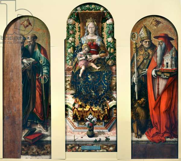 Madonna and Child with Saint Peter and Saint Paul and Saint Ansovinus and Saint Jerome, 1488-90 (oil on board)