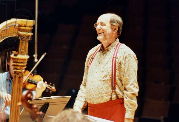 Roger Norrington conducting with
