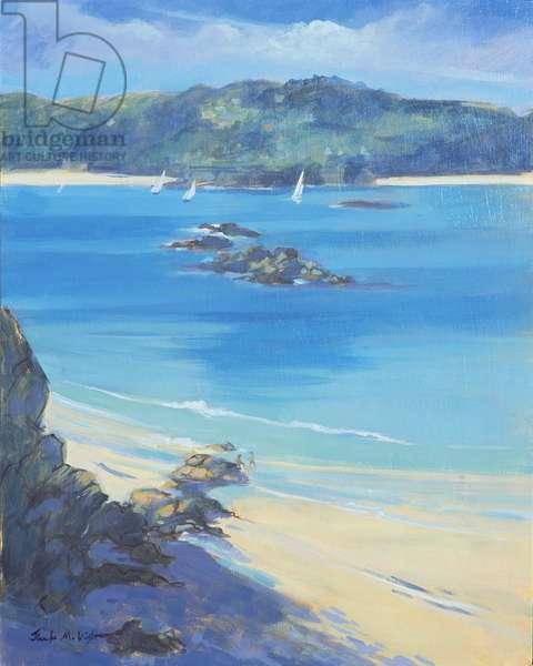 Salcombe - Fun on the Beach, 2000 (oil on board)