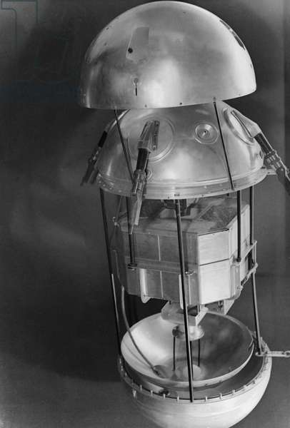 Disassembled View of Sputnik 1, the First Artificial Earth Satellite, Launched by the Soviet Union on October 4, 1957.
