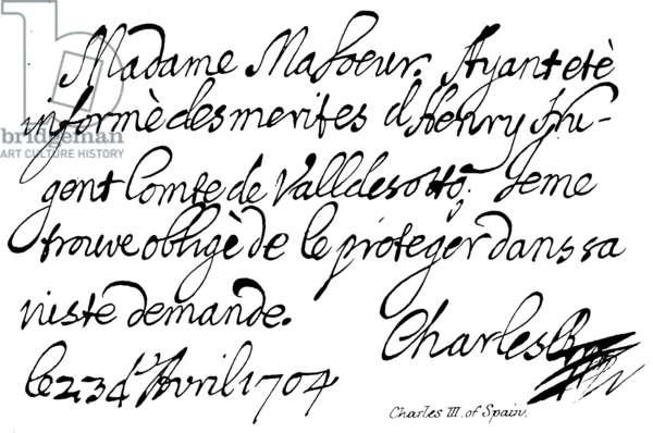 Charles III of Spain (engraving)
