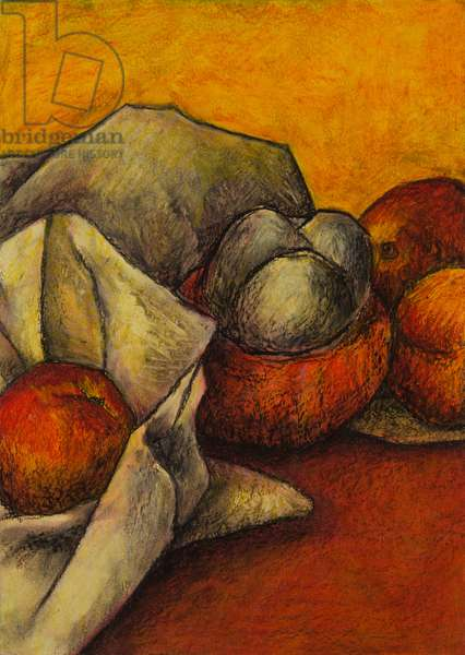 Still life with squash, 2008 (oil pastel on paper)