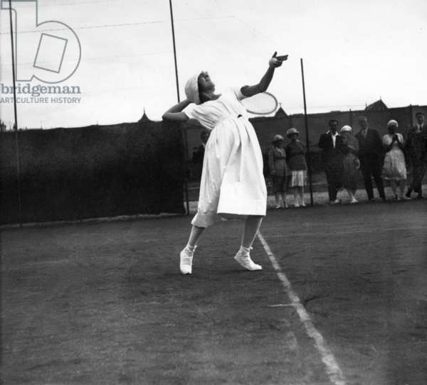 French Tennis player Suzanne Lenglen (1899-1938) , in Deauville in 1919