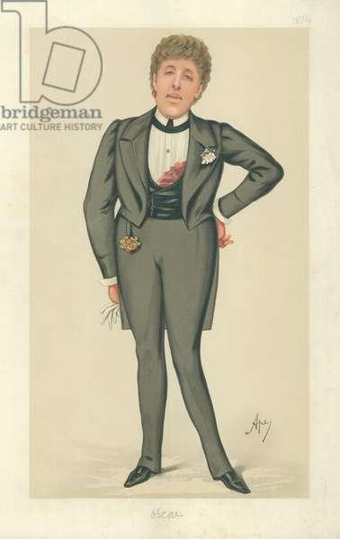 Mr Oscar Wilde, Oscar, 24 May 1884, Vanity Fair cartoon (colour litho)