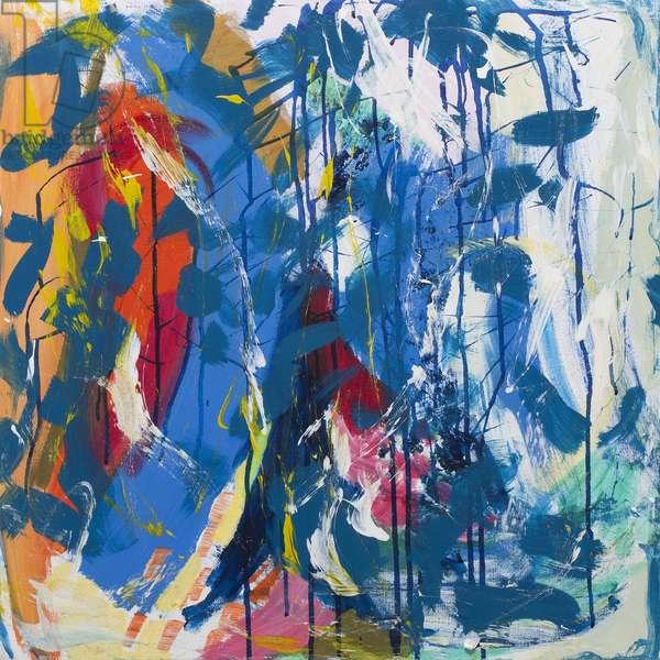 Living Among Trees IX, 2017, (acrylic on canvas)