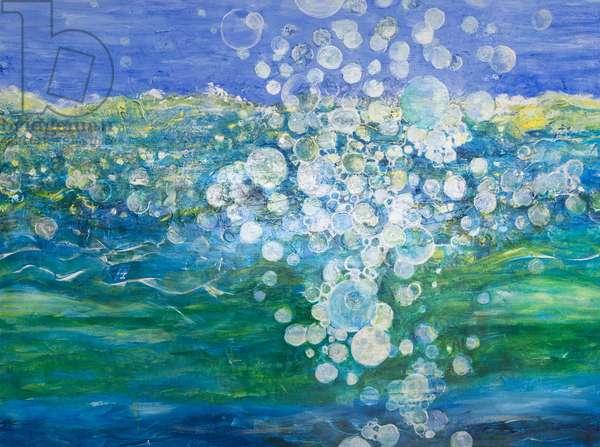 Big Bubble, 2015, (acrylic on canvas)