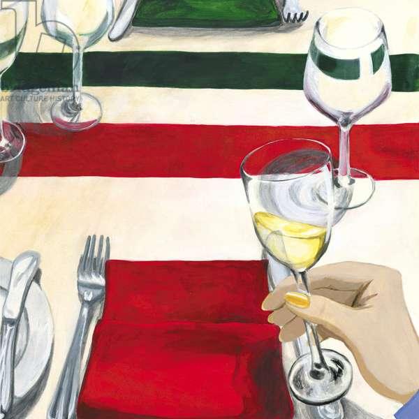 Tilt the wine, 2013, (Acrylic paint on paper)