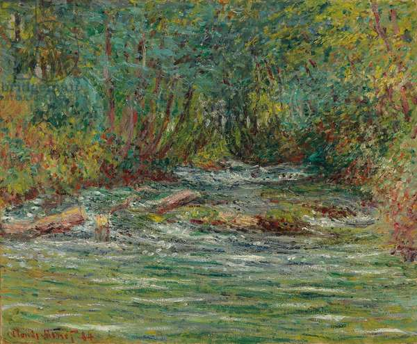 The River Epte at Giverny, Summer; La riviere de l'Epte a Giverny, l'ete, 1884 (oil on canvas)