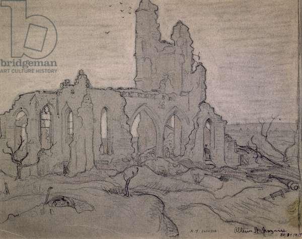 Ablain St. Nazaire, 1917 (black chalk on paper)