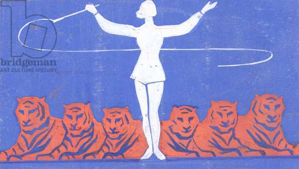 Tiger Trainer, 1961 (goauche on paper)