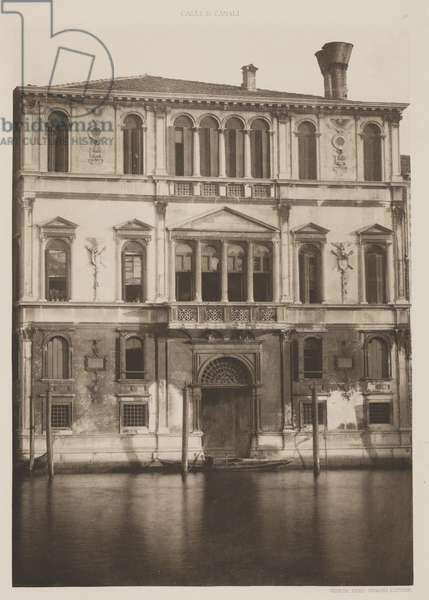 Contarini Palace, 1891 (photogravure)