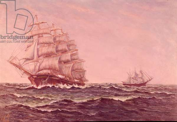Sailing Ship Frigate from 19th Century, by Joseph Links, 20th Century