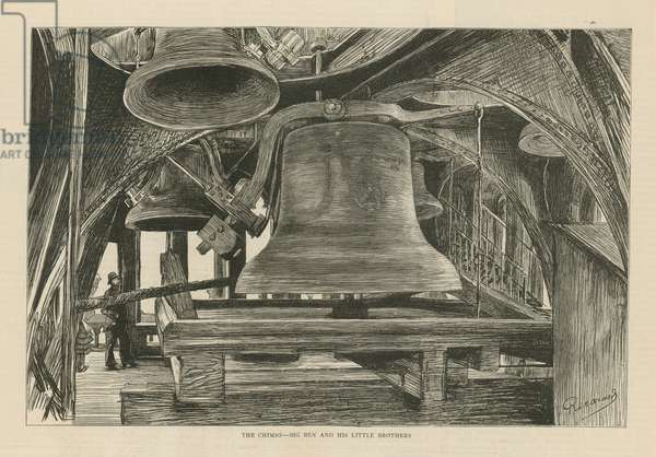 The chimes - Big Ben and his little brothers (engraving)