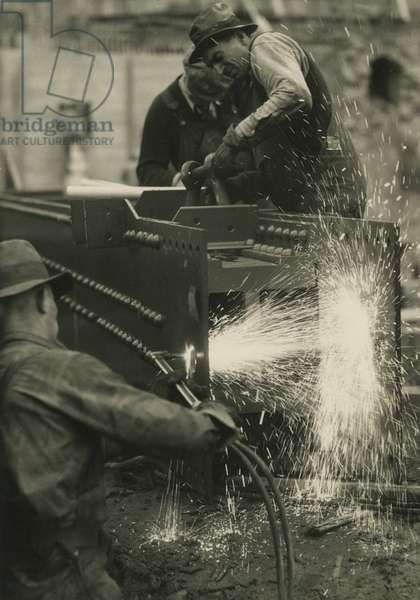 Radio City Music Hall construction - men welding, USA, c.1920-38 (gelatin silver photo)
