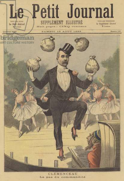 Clemenceau. The dance of sponsorship (colour litho)