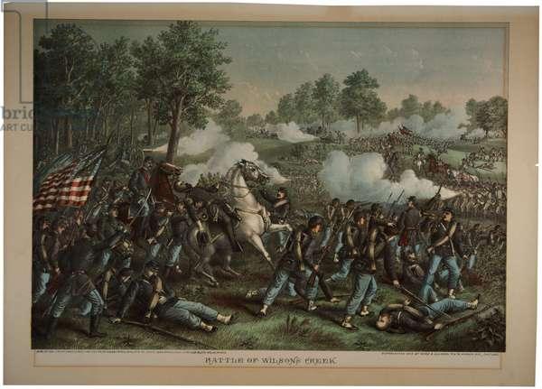 Battle of Wilson's Creek, 1893 (colour litho)