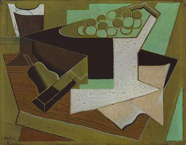Bunch of Grapes and a Pear; Grappe de raisin et poire, 1920 (oil on canvas)