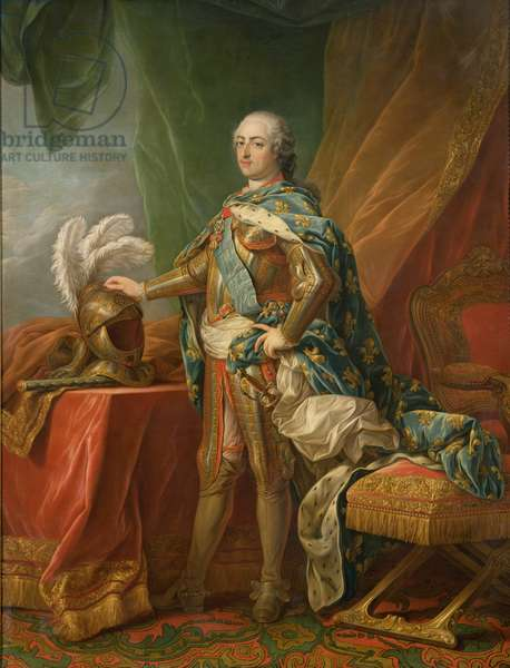 Louis XV of France (oil on canvas)