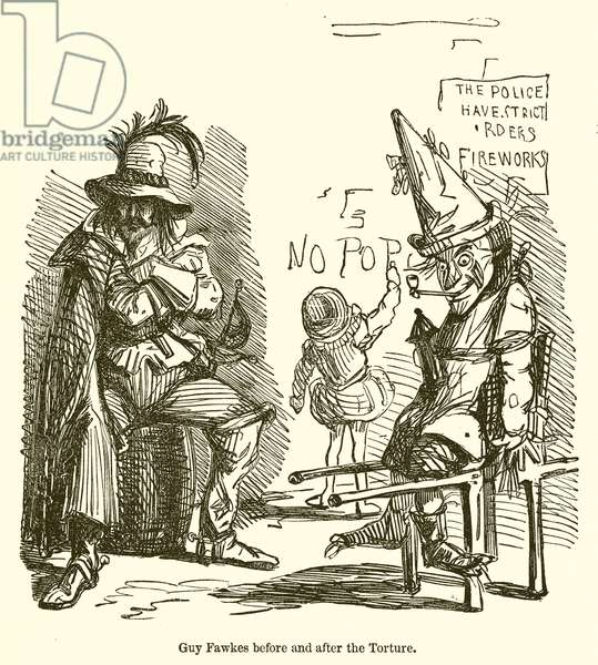 Guy Fawkes before and after the Torture (engraving)