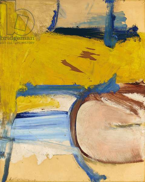 Composition, 1958 (oil, charcoal and paper on paper)