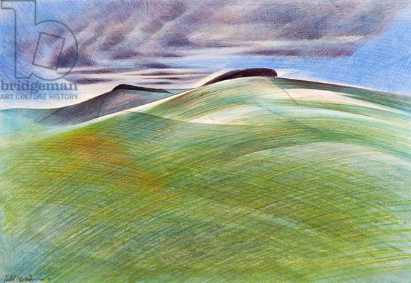 Berkshire Downs (pencil & w/c on paper)