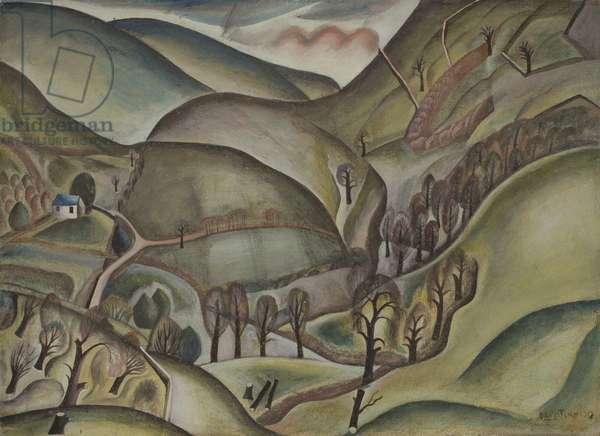 Capel landscape, 1925 (w/c & gouache)