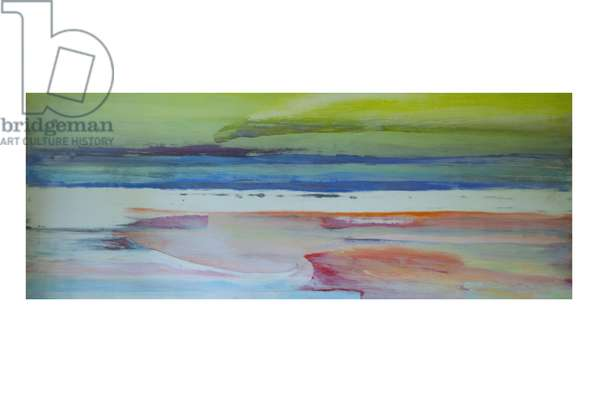 Sand, Sea and Sky, (oil and shellac on gesso on wood)