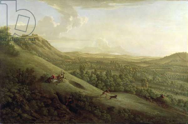 A View of Boxhill, Surrey, with Dorking in the Distance, 1733 (oil on canvas)